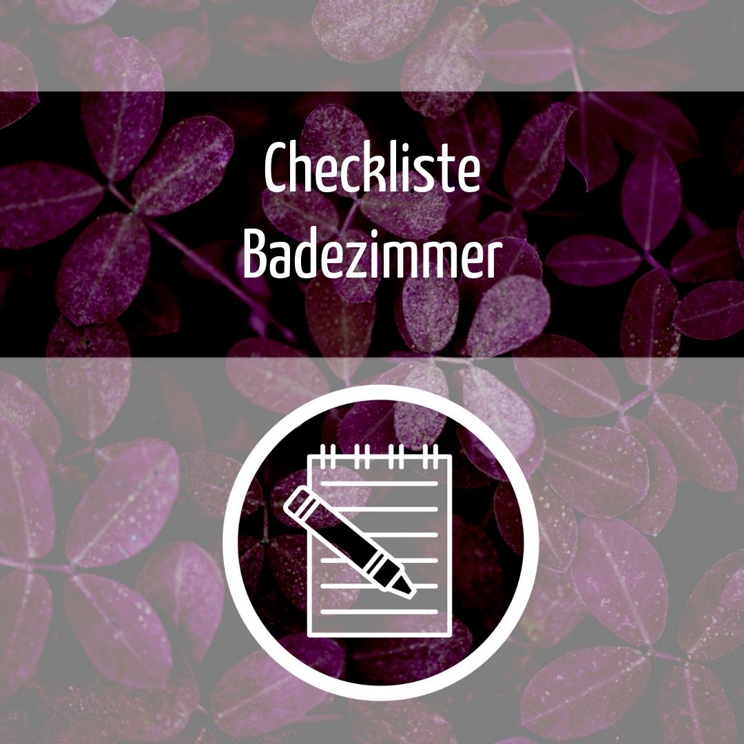 Zero Waste Checkliste Badezimmer