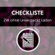 Zero Waste ohne Unverpackt Laden Checkliste