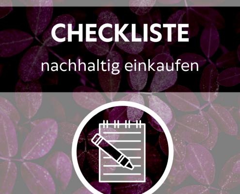 Zero Waste Checkliste nachhaltig Einkaufen